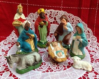 Vintage Nativity/Creche Paper Mache Figurines