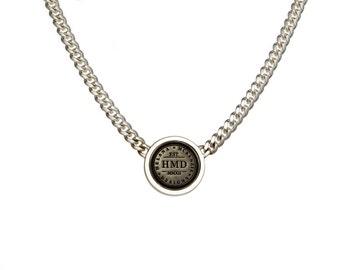 HMD Emblem Neckpiece - Sterling Silver