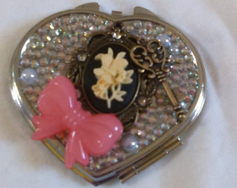 Heart Compact Mirrors