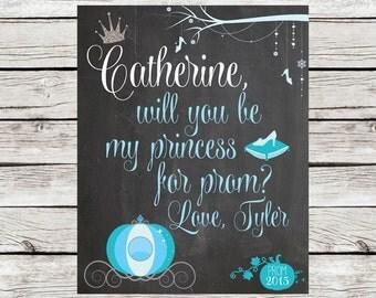Promposal Chalkboard Sign -- Cinderella