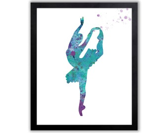 Girl Nursery Decor, Contemporary Ballet Art - FIG006