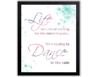 Inspirational Quote For A Dancer, Girls Wall Art