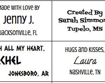 25 Personalized Fabric Labels /Custom Clothing Labels