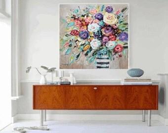 Art Print wunderful flowers wall art   Painting  Art Print abstract painting wall art   from Jolina Anthony