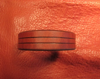 "3/4"" Karmic, Tan Leather Bracelet"