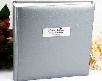 Personalised Silver Baby Photo Album