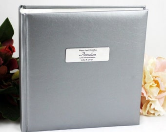 Personalised Silver Photo Birthday Album- Any Age