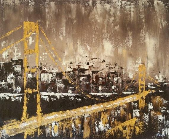 San Francisco Bridge Oil Painting