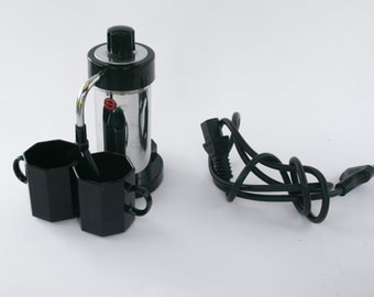 """Electrical Coffee Pot / Coffee Maker """"Velox Patent"""" - 2 cups - 1950"""