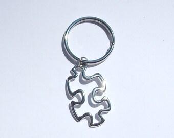 Puzzle Keychain, Puzzle Piece Keychain, Autism Awareness Keychain, Puzzle Charm, Autism Awareness, Puzzle Piece, Puzzle Piece Awareness