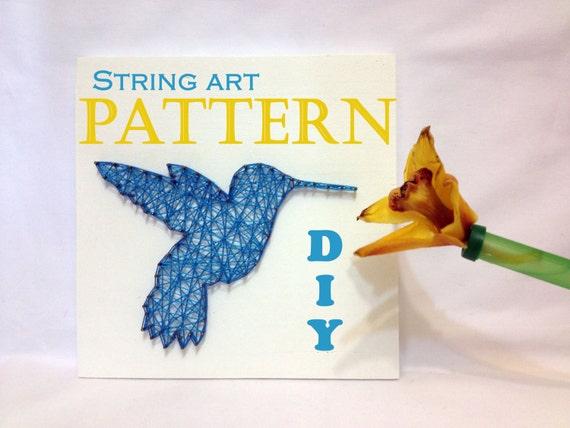diy string art pattern hummingbird bird pattern and tutorial. Black Bedroom Furniture Sets. Home Design Ideas