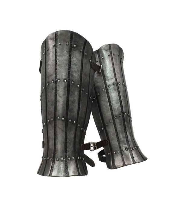 Larp Armor, Medieval Armor, Cosplay, Splinted Greaves, Leg Armour, Viking Armor, Skyrim, Witcher, Cosplay, SCA, Larp