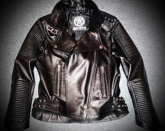 Biker Lady - women's leather jacket (Free shipping)