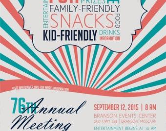 Custom Event Invitation   Digital Printable