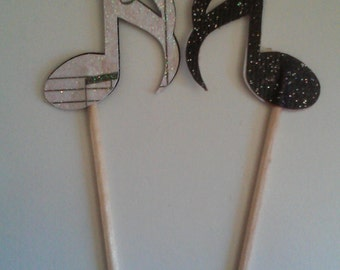 cupcake toppers, music notes (24)