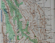 1901 Timber Map Montana Lewis & Clark Forest Reserve. Showing Lyall Larch, Western Larch, Patton Hemlock. Julius Bien Antique Lithograph