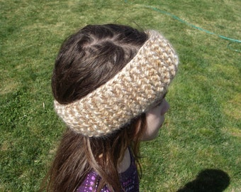 FREE SHIPPING Brown Cable Crochet Headband Dreadband Earwarmer