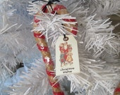 Primitive Candy Canes - Handmade Christmas Tree Ornaments -Set of 2