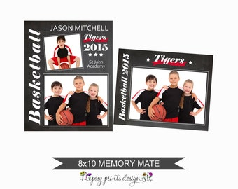 8x10 Memory Mate - Photoshop Template - Team Collage - Scrapbooking Template - MMT02