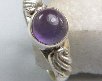 Amethyst ring, Silver Amethyst stone ring , Sterling silver overlay amethyst ring, Gemstone ring Size 5 5.5 6 6.5 7 7.5 8 , ring-0314140033