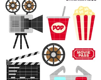 Cinema clipart | Etsy