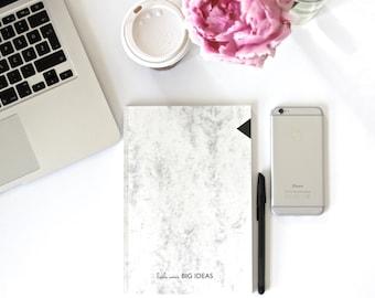 BIG IDEAS marble notebook