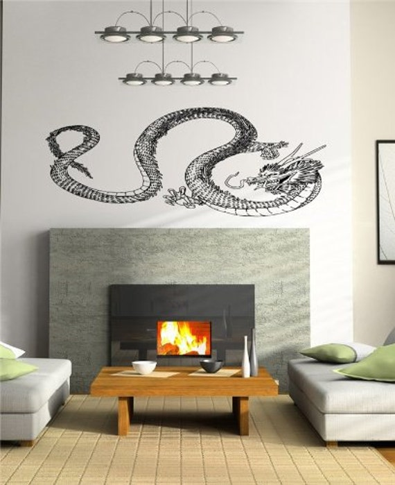 Japanese Art Living Room: Japanese Dragon Wall Decor Living Room Wall By