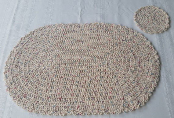 Crochet Pattern For Oval Placemat : Crochet Placemat Patterns Oval images
