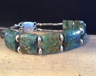 Turquoise and Sterling Silver Cuff!