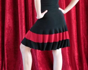 Tango / Milonga / Salsa / Latin dress black and red