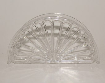Sets of 6 or 12 pieces Clear napkin holders- Fan Design