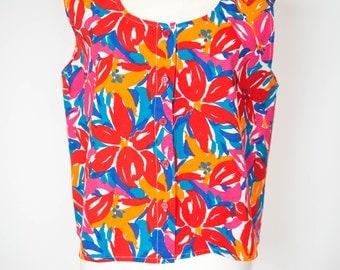 Vintage Bright Floral Vest