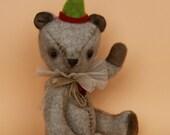 "Teddy Bear ""Oli"", handmade teddy bear from wool fabric"