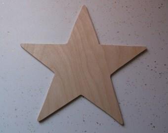 "10"" Star, Wooden Stars, Wood Stars, Star Cut Out, Star Shape, Star Ornament, Wood Star, Holiday Star, Christmas Star"