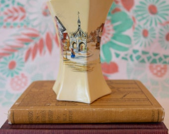SALE Antique Ceramic Vase / Lancaster & Sons Ltd. Hanley / Vintage Bud Vase / L. Sons Ltd. Vase / Mothers Day Gift