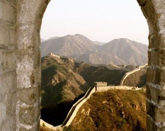 Home Decor, Great Wall Of China,China Photography, Travel Photography, Wall Art, Photo Art Greeting Card, Carte Blanche Images