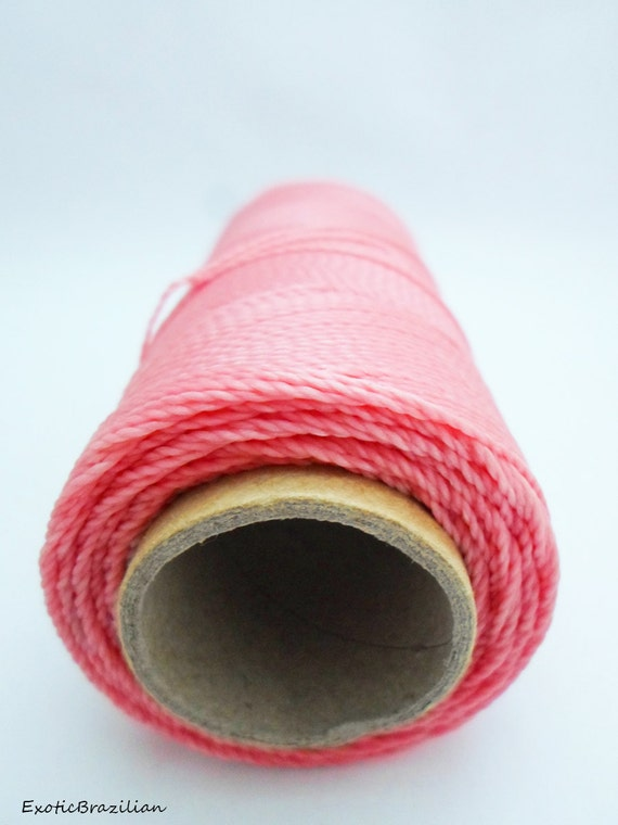 macrame supplies macrame supplies 16 yards pink waxed polyester thread 9096