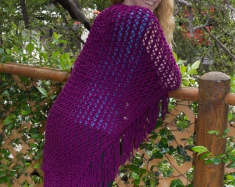 Soft purple shawl