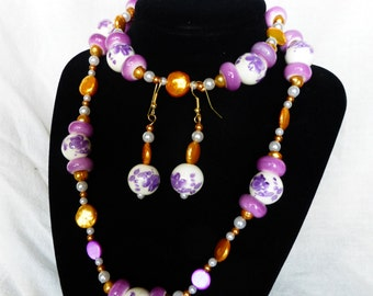 Sunshine on the Lilacs ~ Necklace, Bracelet and Earring Set