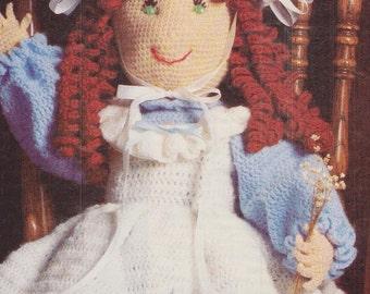 Vintage Old Fashioned Doll, Crochet PDF Pattern
