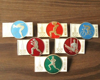 Olympic Games 1980, Olympic Symbol, Moscow 80, Pin Olympic Games, Olympic Badge, 1980 Game Pin