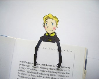 Prometheus bookmark movie David android alien Weyland Industries Michael Fassbender gift for him