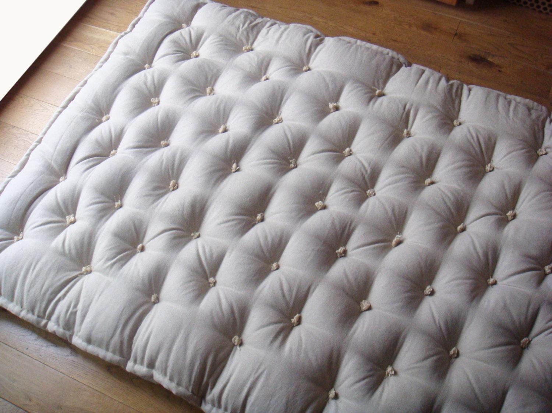 Queen Size Handmade Wool-Filled Shikibuton / 4 von TheHomeOfWool