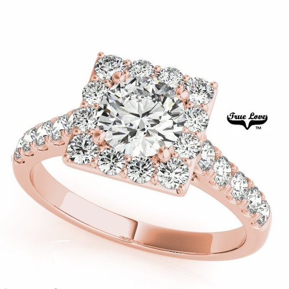Rose Gold Trek Quality 1 Moissanite Engagement Ring 14kt