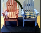Miniature Chairs, Small Chairs, Primitive Decor, Prim Decor, Dollhouse Furniture, Barbie Doll Furniture, Handmade Furniture, Homespun, Wood