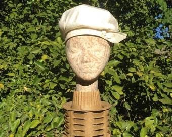 Louis Original California Ivory Silk 1960's Bubble Hat