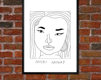 Badly Drawn Nicki Minaj - Hip Hop Poster