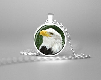 BALD EAGLE NECKLACE Bald Eagle Jewelry Bald Eagle Necklace Bald Eagle Pendant Eagle Gift Eagle Charm Necklace Bird Watching Necklace