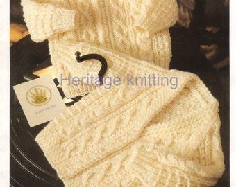 baby child aran cardigans Knitting pattern 99p pdf