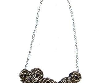 Handmade black zipper necklace